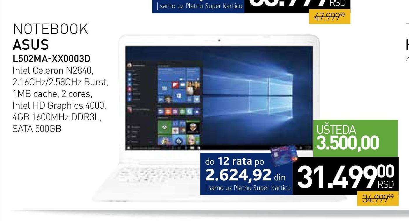Laptop L502MA XX0003D