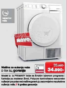 Mašina za sušenje veša D 724 Bj