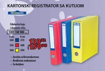 Registrator sa kutijom