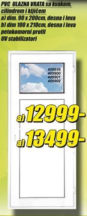 Ulazna PVC vrata 100x210