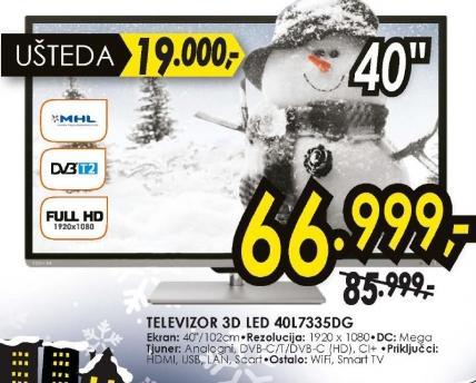 Televizor 3D LED LCD 40L7335DG
