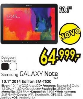 """Tablet Galaxy Note 10.1"""" 2014 Edition Sm-T520"""