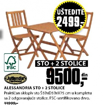 Bašt. garnitura ALESSANDRIA D59cm FSC
