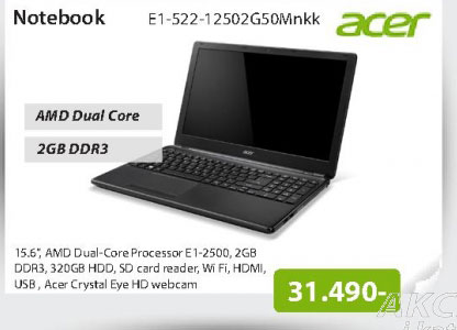 Notebook Aspire E1-522-12502G50Mnkk