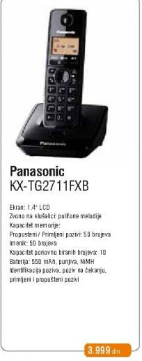 Bežični telefon KX-TG 2711 FXB