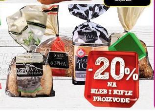 20% popusta na Hleb&Kifle proizvode