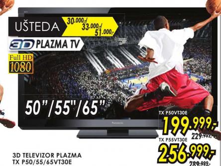 Televizor plazma 3D TX-P55VT30E