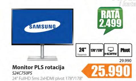 Monitor LED LCD  S24C750PS