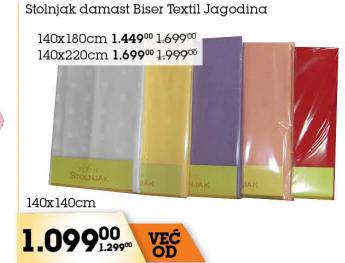 Stolnjak Damast Biser, Tekstil Jagodina