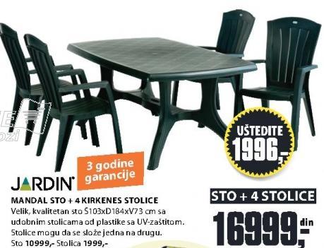 Baštenska stolica Kirkenes Jardin