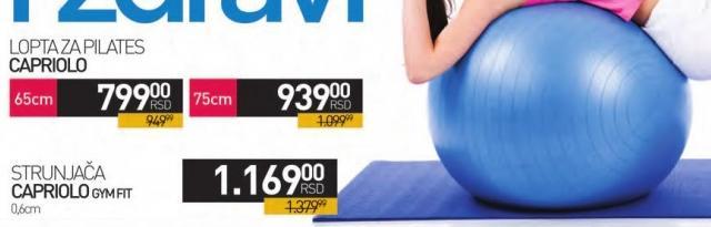 Lopta za pilates 65cm