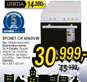 Šporet CK 6060VW