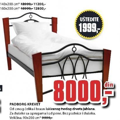 Krevet Padborg 160x200 cm