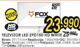 Televizor LED LCD 29D150 WHITE