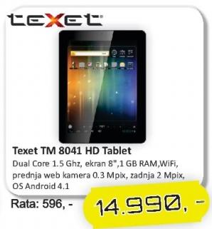 Tablet Tm 8041 Hd Texet