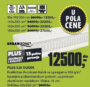Dušek Plus S20 80x200cm