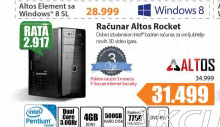 Desktop računar Altos Rocket +Poklon vaučer za 3 meseca f-Secure Internet security
