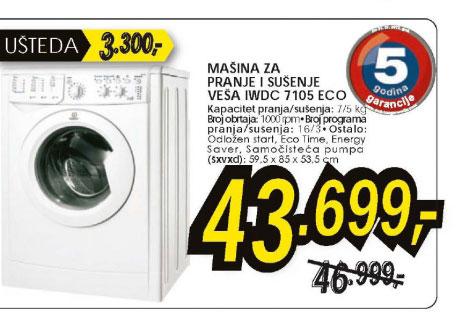 Mašina Za Pranje I Sušenje Veša Iwdc 7105 Eco