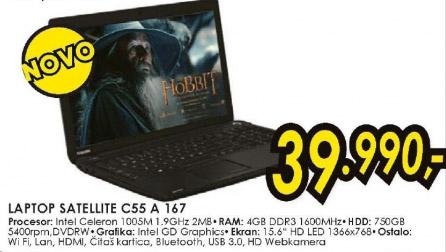 Laptop Satellite C55 A 167