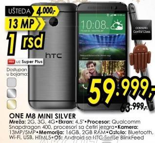 Mobilni telefon One M8 Mini Silver