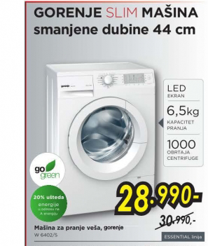 MAŠINA ZA VEŠ W6402/S