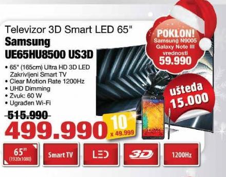 """Televizor LED 65"""" 3D Ue65hu8500 Us3d"""