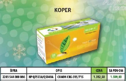 Toner HP Q7553A/Q5949A