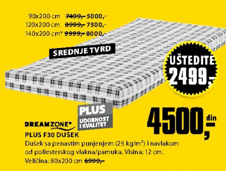 Dušek Plus F30, 120x200cm