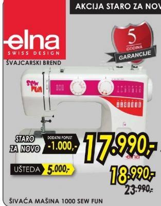 Šivaća mašina Elna 1000 Sew Fun