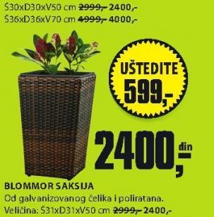 Saksija Blommor 30x30x50