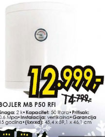 Bojler MB P50 RFI