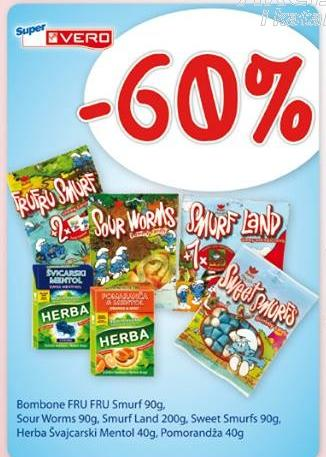 -60% sour worms