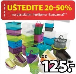Uštedite na na plastičnim kutijama i korpama!