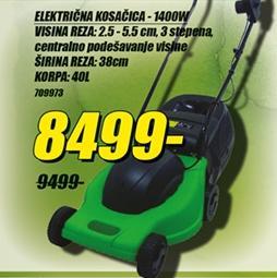 Električna kosačica 1400W