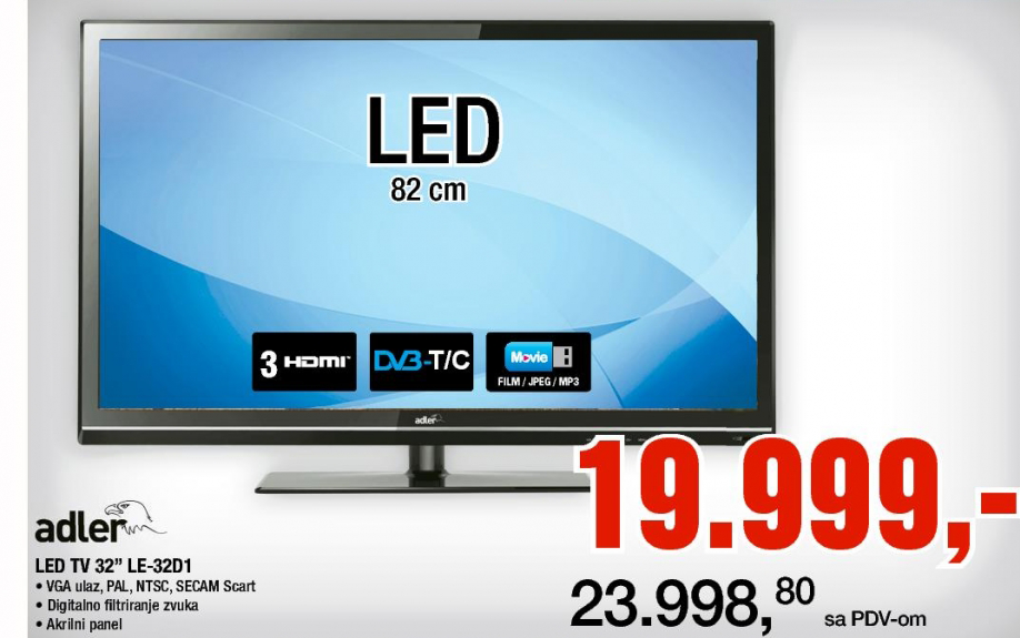 Televizor LED 32'' le-32d1