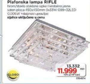 Plafonska lampa Rifle