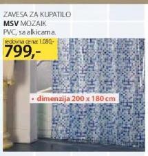 Zavesa za kupatilo mozaik