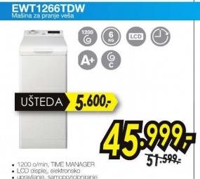 Veš mašina EWT 1266TDW