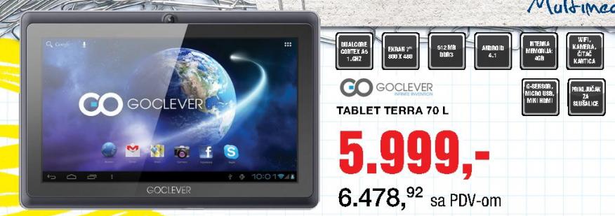Tablet GoClever TERRA 70L