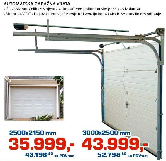 Automatska garažna vrata 2500x2150mm