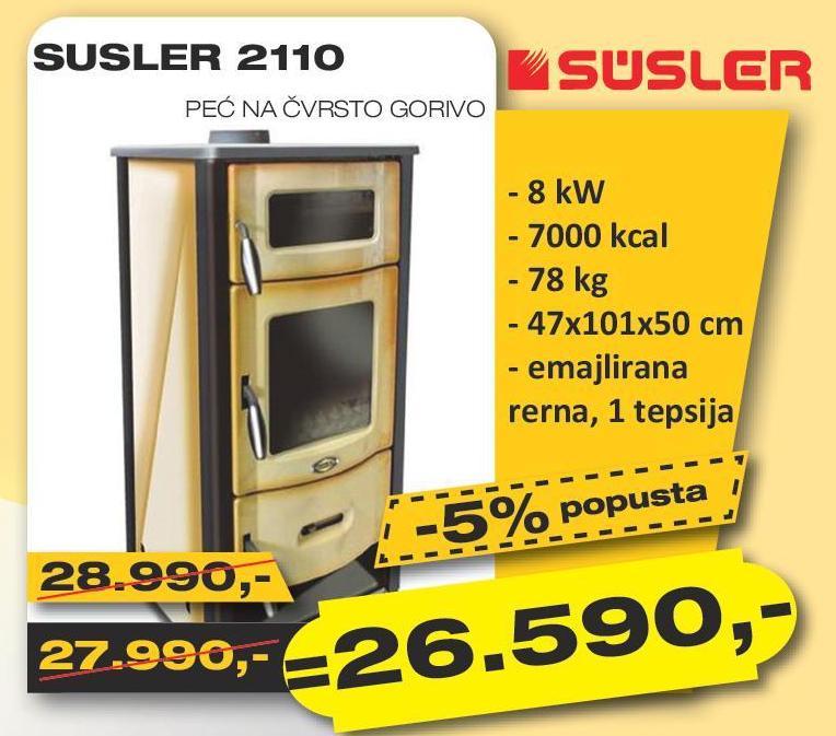Peć na čvrsto gorivo Susler 2110