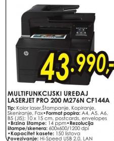 Štampač Color LaserJet Pro 200 MFP M276n CF144A