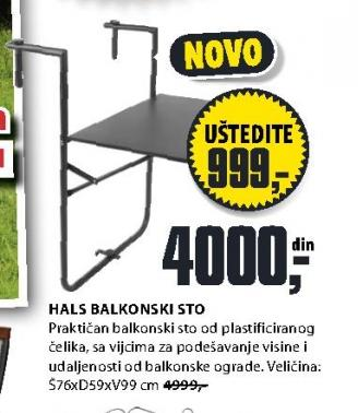 Balkonski sto