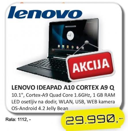 Netbook IdeaPad A10 Cortex A9 Q