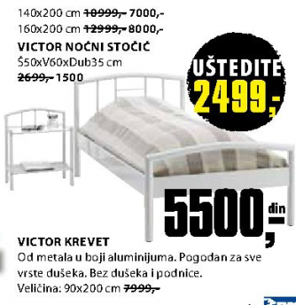 Krevet Victor 90x200 cm