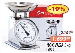 Inox kuhinjska vaga 5kg HS976