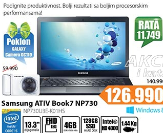 Laptop ATIV Book7 NP730  NP730U3E-K01HS