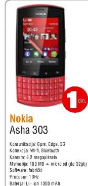 Telefon mobilni Asha 303