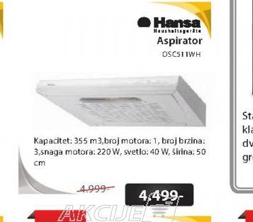 Aspirator OSC511WH