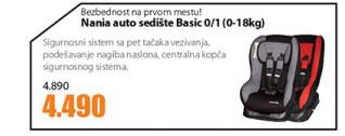 Auto sedište Basic 0/1